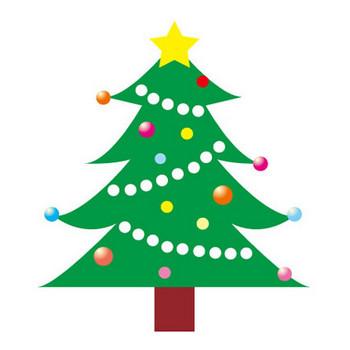 クリスマスツリー(ふち取りなし) — POP・イラスト素材 無料ダウンロード