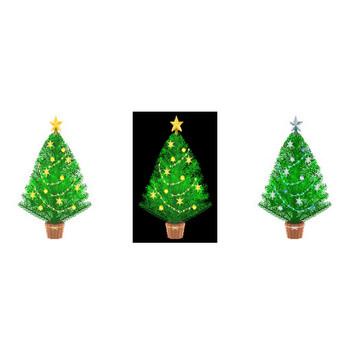 クリスマス/ツリー3/素材6/無料/季節のクリップアート/イラスト素材