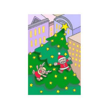 無料 四季・季節行事・祝日祭日のイラスト - (クリスマス・クリスマスイヴ・クリスマスツリー・聖夜・X`mas・都会)
