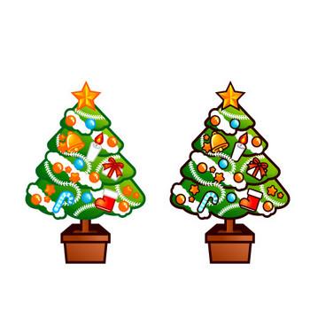 クリスマスツリーのイラスト|フリー素材|素材のプチッチ