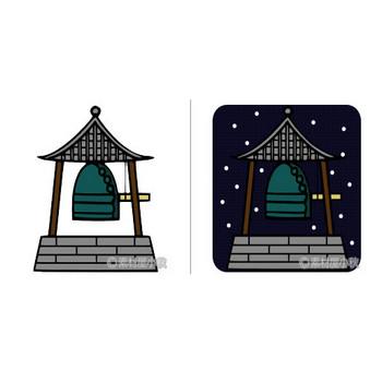 除夜の鐘のイラスト | 素材屋小秋