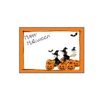 ハロウィンのカードのテンプレート|かわいい無料イラスト 印刷素材.net
