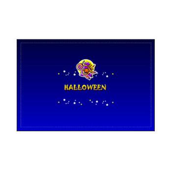 秋、10月31日 ハロウィンカード(表)、印刷素材 フリー素材 素材のプチッチ