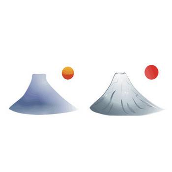 わん太のパソコン ハガキ 無料年賀状素材集 富士山