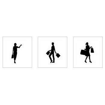 福袋|シルエット イラストの無料ダウンロードサイト「シルエットAC」