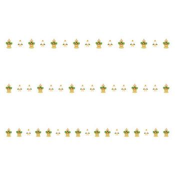 門松と鏡餅のお正月の罫線イラスト | 無料の線・ライン素材 飾り罫線イラスト.com