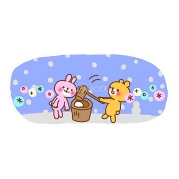 お正月餅つき うさぎ&くま 無料イラスト【アニメーション】 | 素材Good