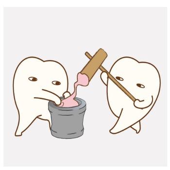 「餅つき??」のイラスト|歯科素材.com