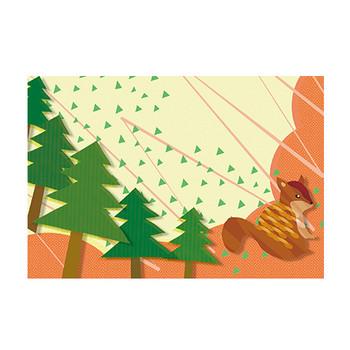 ポストカード(アニマル)りすのイラスト | かわいいフリー素材が無料のイラストレイン