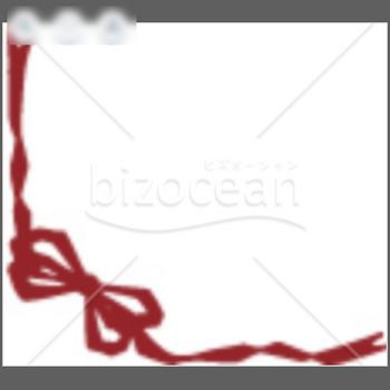 赤いリボンのイラスト|テンプレートのダウンロードは【書式の王様】