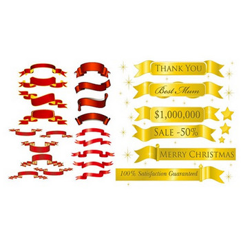 5 sets of festive ribbon banner vector material | Free Vector Graphics | All Free Web Resources for Designer - Web Design Hot!