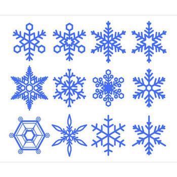 雪の結晶 イラスト-商用加工OK無料フリーイラスト素材-エムスタジオ