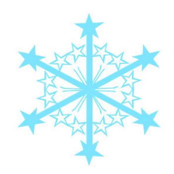 雪の日 雪の結晶 冬のイラスト素材 無料テンプレート