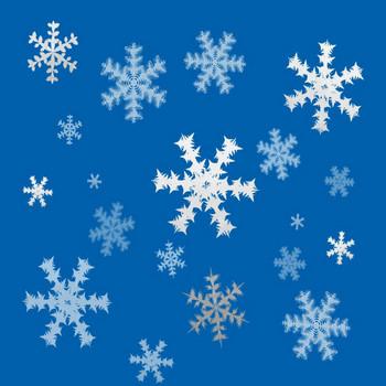 青色の背景と雪の結晶スマホ壁紙のandroid用壁紙素材