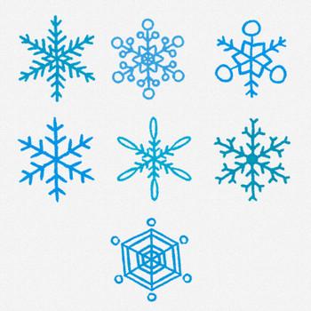 雪の結晶のアイコン・マーク | かわいいフリー素材集 いらすとや