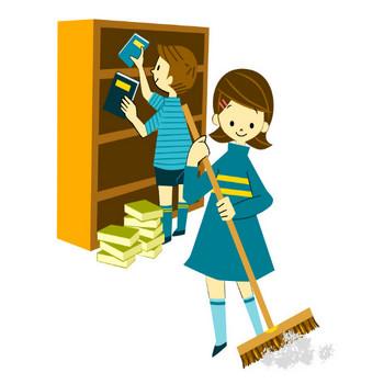 掃除、整理、整頓:フリーイラスト集|学校保健ポータルサイト