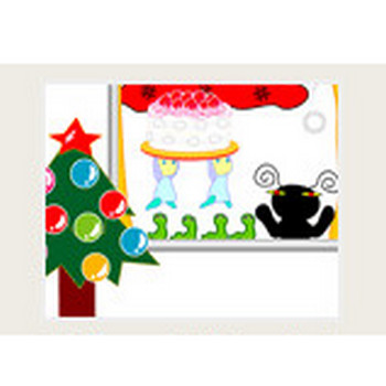 クリスマスの壁紙(無料)   イラストと言葉の面白い壁紙   PCデスクトップ   ゆーもりあー