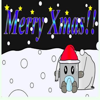 GALLERY:イラスト - 店長の赤ちゃん壁紙(クリスマスバージョン) - WANPA's STORE | オリジナルキャラ脱出ゲーム
