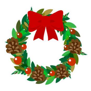 クリスマスリース - フリーイラスト素材 「趣味で作ったイラストを配るサイト」