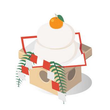 お正月 鏡餅 - フリーイラスト素材 「趣味で作ったイラストを配るサイト」