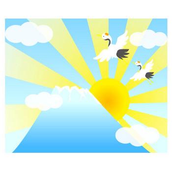 新春!初日の出のフリー素材|WEB・ホームページ素材、イラスト、壁紙、写真が無料でダウンロード