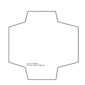 「ぽち袋パターンペーパー用型紙」の無料ダウンロード:Picture Village > プリント素材 > パターンペーパー用型紙