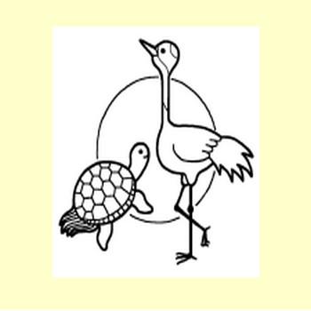 鶴・亀・鯛/年賀状・お正月/冬の季節・行事/無料イラスト【みさきのイラスト素材】