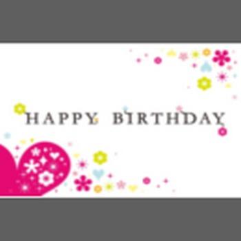 バースデー誕生日メッセージカード 無料テンプレートダウンロード