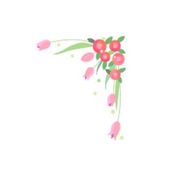 花のイラスト素材 / バラとチューリップ 無料イラスト素材