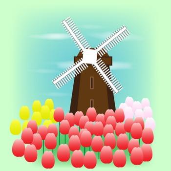 春の花|無料イラスト|ダウンロード|PNG/チューリップ1