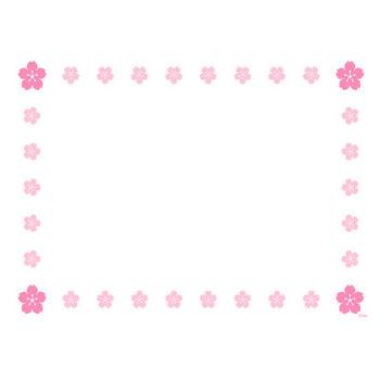 桜の花フレームの無料イラスト素材|イラストイメージ