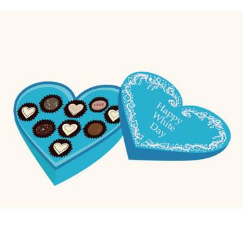 ホワイトデー お返しのチョコレートのイラスト | 商用フリー(無料)のイラスト素材なら「イラストマンション」