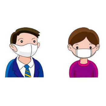 マスク姿のイラスト-無料ビジネスイラスト素材のビジソザ