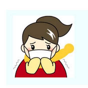 風邪を引いた人の無料イラスト:素材屋花子