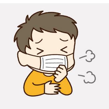 口呼吸の兆候(風邪をひきやすい:男の子)|フリー歯科イラスト【歯科素材.com】
