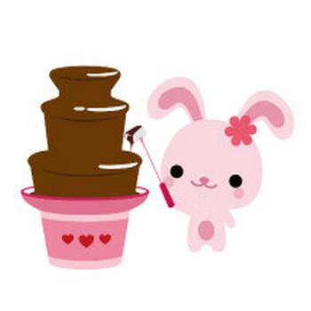 可愛い動物のイラスト市場/バレンタイン・チョコレートのイラスト/無料イラスト
