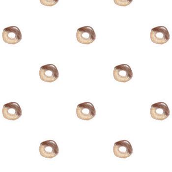 チョコドーナツのイラストパターン | フリー素材 キューブ