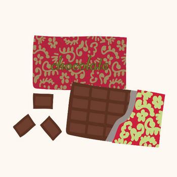 おしゃれなチョコレート(板チョコ)のイラスト | 商用フリー(無料)のイラスト素材なら「イラストマンション」