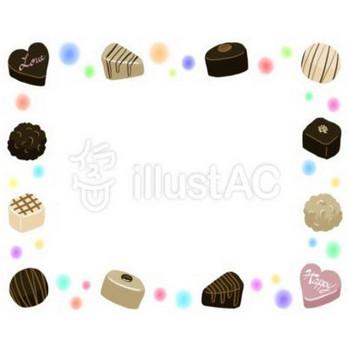 【フリーイラスト素材】No.5 チョコレートフレーム(飾り枠) | 誰かの力になれるブログ