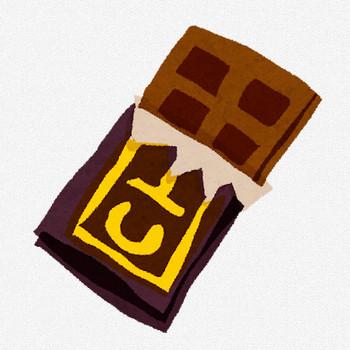 チョコレートのイラスト「板チョコ」 | かわいいフリー素材集 いらすとや