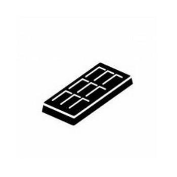 板チョコ|シルエット イラストの無料ダウンロードサイト「シルエットAC」