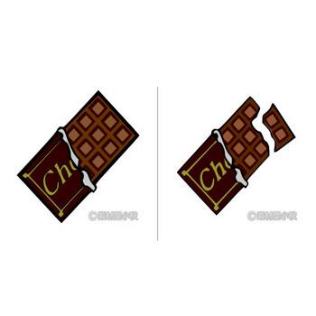 板チョコのイラスト | 素材屋小秋
