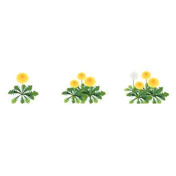 無料イラスト/季節・行事素材のイラスト市場/春素材・タンポポ