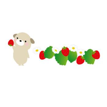 春・苺(いちご)のイラスト-無料イラスト/フリー素材