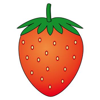 果物11-いちご -食(料理・食材)の無料イラスト素材-イラストポップ