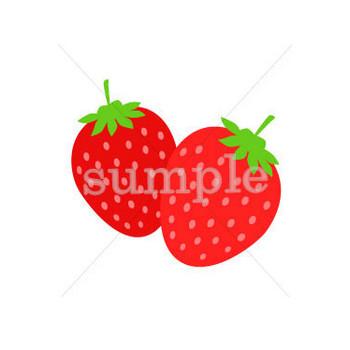 完熟イチゴ/無料イラスト素材0236