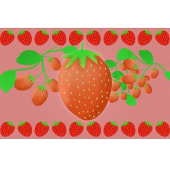 いちごイラスト - かわいいシンプルなフルーツ無料素材 - チコデザ