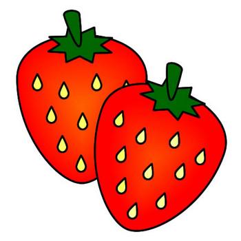イチゴのイラスト|フリーイラスト素材 変な絵.net