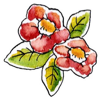 椿のイラスト | かわいいフリー素材が無料のイラストレイン