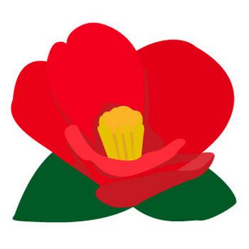 ツバキの花10 | 花、植物イラスト Flode illustration (フロデイラスト)
